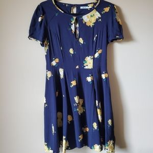 Kimci Blue (Anthropology) floral dress size 6